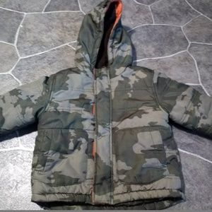 Baby Boys Camo Thick Winter Jacket Size 18 Months